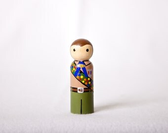 "Eagle Scout Buddy- 3.5"" wood peg doll"