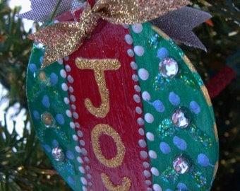 JOY Ornament ... ready for Christmas...