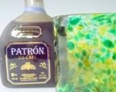 Hand Blown Art Glass Green Tumbler Rock Glass/ Low-Ball by Rebecca Zhukov