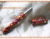 Hook Pen for TATTING size 13  Super Bling
