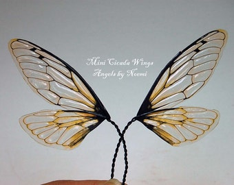 Fairy Wings - Natural Cicada S wings -  For OOAK Art Dolls
