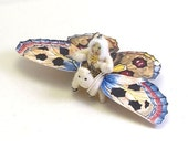 Spun Cotton Vintage Inspired Butterfly Rider Ornament/Figure
