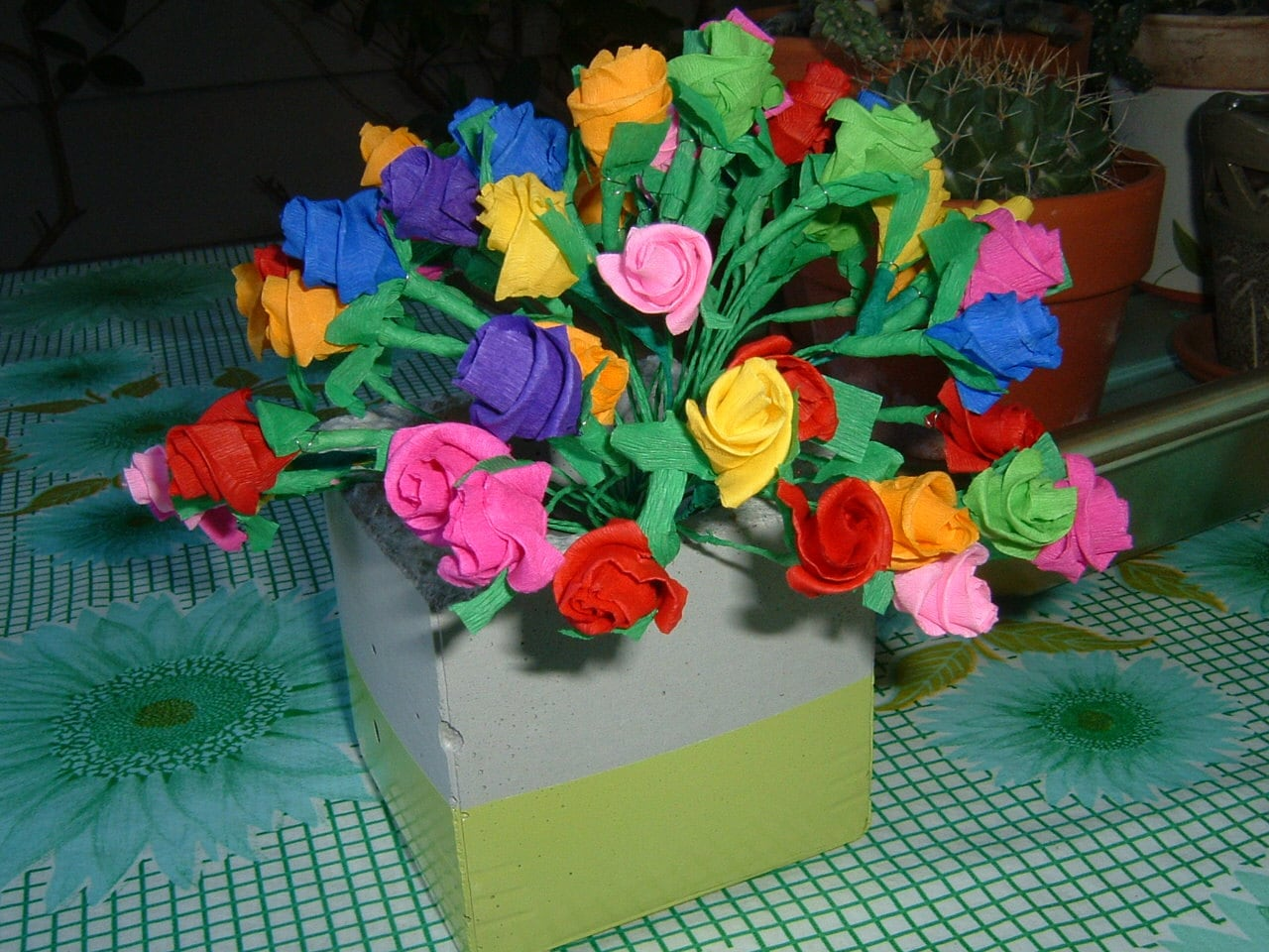 Paper Flowers Mexican Crepe Paper from manosmias on Etsy Studio