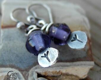 Algiz Rune Jewelry Runic Earrings Elder Futhark