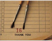 """set of 4 flat notecards with envelopes - """"thank you"""""""