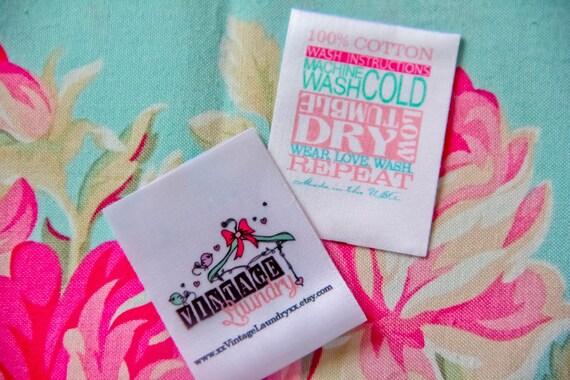 1200 satin ribbon clothing labels sewing tags