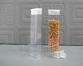 12 Clear rectangular Storage Containers, boxes with flip tops for Seed Beads, Findings, Scrapbooking  Eyelets, Organizers, size XL
