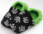 Baby & Toddler Slippers - Crossbones (Sizes: 3-10)