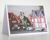 033 - unexpected visitor - greeting card