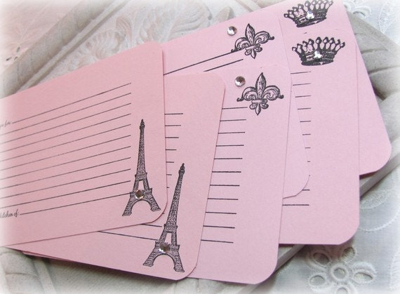 Paris Recipe Cards Paris Recipe Card Set