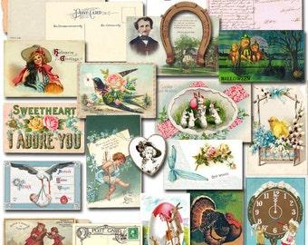 Vintage postcards graphic cd 1