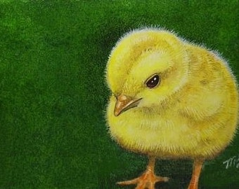 Easter Chick Baby Bird Art Melody Lea Lamb ACEO Print