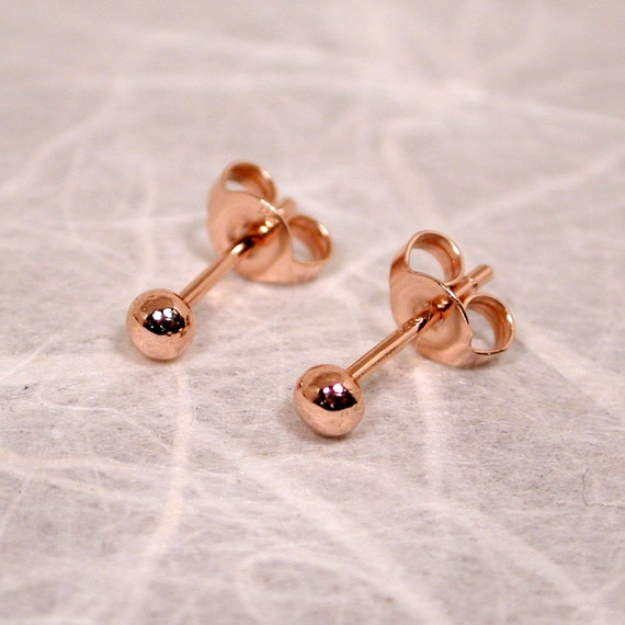 14k Rose Gold Stud Earrings Rose Gold Stud Earrings