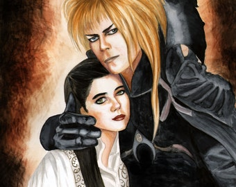"Jareth and Sarah 8.5"" x 11"" print by Artist Sherrie Spencer"