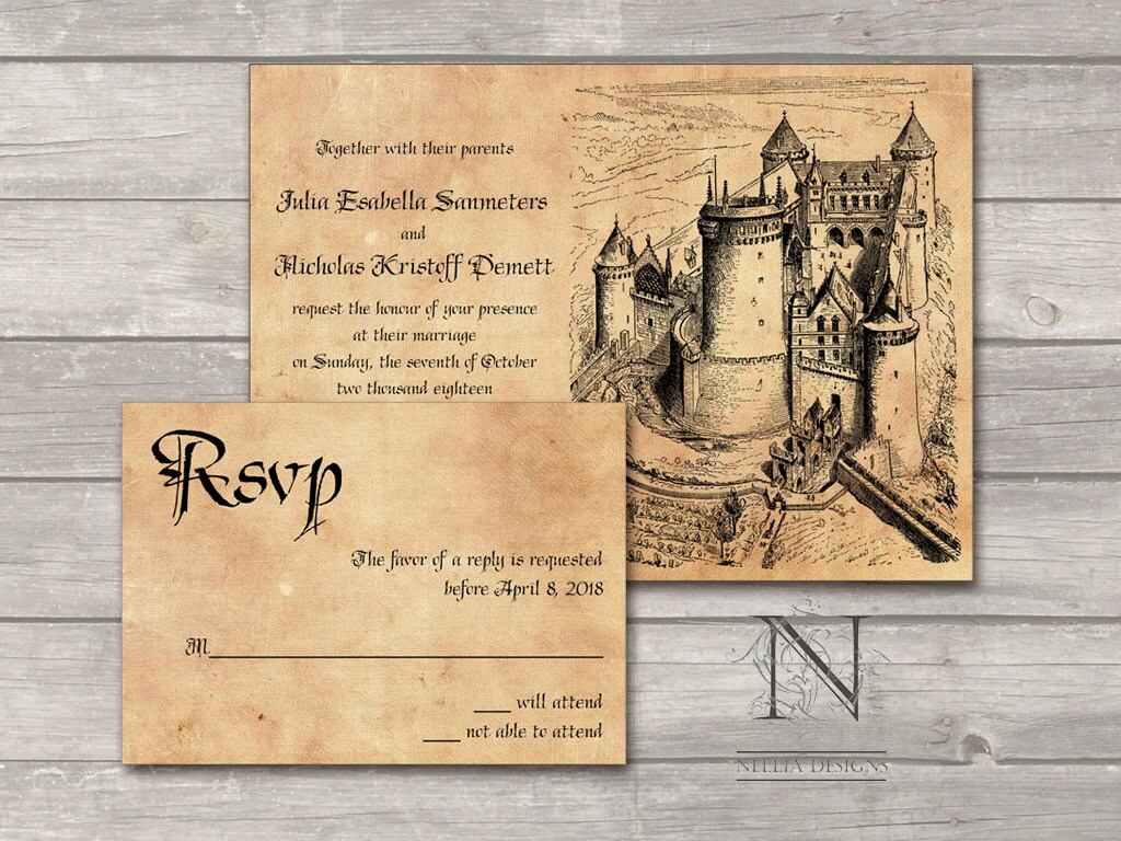 Fairytale Invitations Wedding for perfect invitations layout