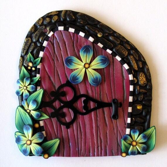 Tooth fairy door kids wall art home decor by claybykim on etsy for Fairy door wall art