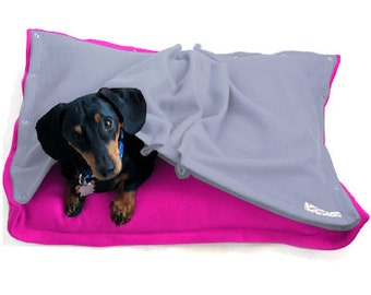 Eco Pet Bed - Recycled Pink Sky Blue Fleece