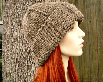 Brown Mens Hat Brown Womens Hat - Watchman Cap Beanie Barley Brown Knit Hat Brown Hat Brown Beanie Womens Accessories