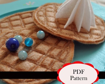 Felt Waffles and Whipped Cream Pattern & Tutorial