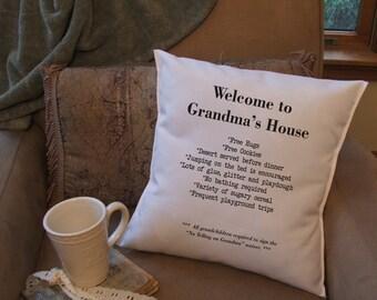 Grandma's house throw pillow cover, cutsom pillow cover