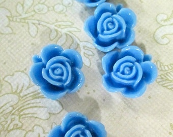 10 15mm sky blue cabochons