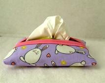 Bunny Pocket Tissue Holder Easter Tissue Cozy Tissue Case