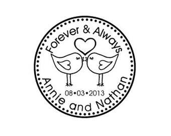 love birds custom Rubber stamp Custom Made Return Address Rubber Stamp great gift lovebirds
