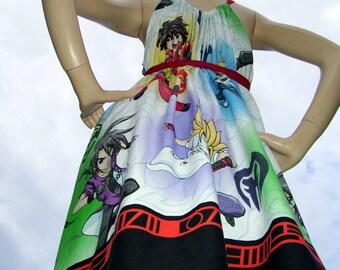 Bakugan Sundress Battle Brawlers Comic Con Anime Beys Blades Cartoon Sundress Cruise Resort Summer Beach Adult M L XL Plus Maternity Dress
