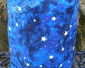 Knitting project bag, WIP bag, knitting project bag, glow in the dark stars, Suebee
