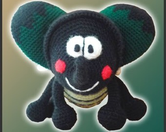 Amigurumi Pattern Crochet Rhinoceros Beetle DIY Instant Digital Download PDF