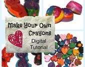 Handmade Crayons : Digital Instructions (PDF Tutorial for Hand Poured Wax Crayons)