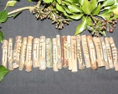 20 Celtic Tree Ogham Staves made with Corresponding Woods with pouch and information sheet - Pagan, Wicca, Druid, Druidry, Witchcraft,