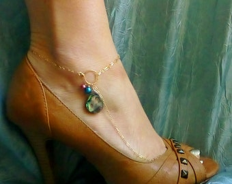Sexy Anklet - A great accessory for your favorite heels / Customizable, Available in  Gold or Silver