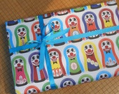 knock down doll carnival gift wrap colorful fun wrapping paper carnival inspired