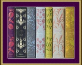 Classic Book Spines - Counted Cross Stitch Pattern