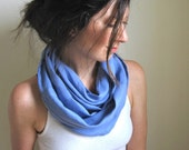 French Blue Linen Infinity Scarf / Linen Clothing / Cowl Scarf / Loop / Circle / Made in Vermont