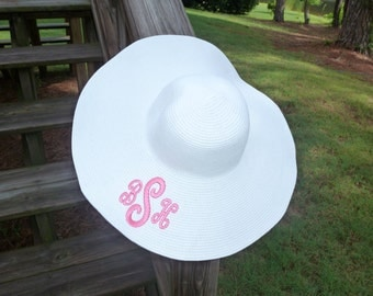 Personalized Sun Hat in White