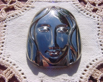 Lady Madonna Vintage Czech Glass Pendant