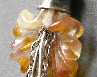 Orange Jellyfish Necklace