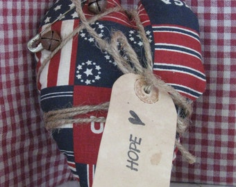 USA  Primitive Country Accent Pillow