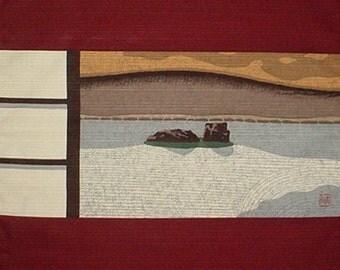 Masao Ido 'Ryoanji' Furoshiki Japanese Fabric Cotton 48cm w/Free Insured Shipping