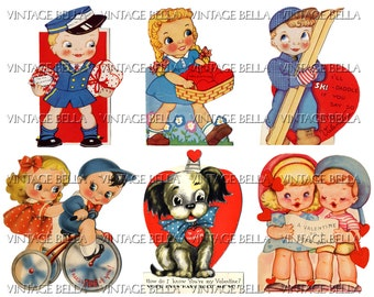 Vintage 1930s Children Valentine Digital Download 331 - by Vintage Bella