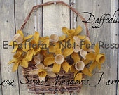 Primitive EPATTERN Daffodil Flowers Grungy flowers for doll or display PDF