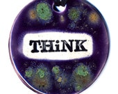 Think Ceramic Necklace in Spotted Purple