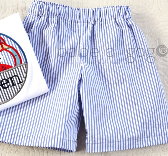 LAST PAIR Seersucker Shorts Set for Babies, Toddlers and Little Boys