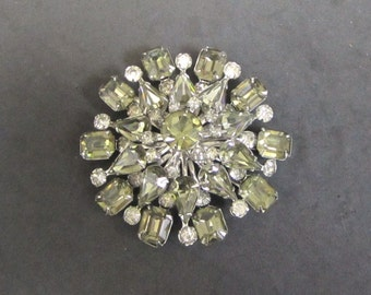 Vintage Signed Coro Sage Green Brooch