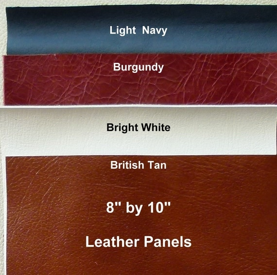 "Leather Pieces,  8"" by 10"", Lot of 4 Assorted Colors, Leather Scraps"