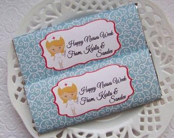 Printable Nurses Week Blonde Large Candy Bar Wrappers