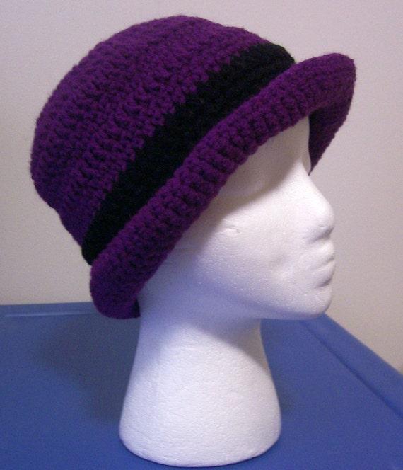 Rolled Brim Crochet Hat Pattern Free Manet For