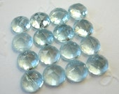 Gemstone Cabochon Aquamarine 5mm Rose Cut FOR ONE